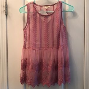 NWT Sheer lace top